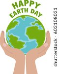 happy earth day. hand drawn... | Shutterstock .eps vector #602108021