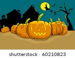 vector halloween card | Shutterstock .eps vector #60210823
