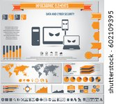 cyber security infographics... | Shutterstock .eps vector #602109395