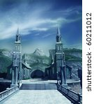 Entrance Gate To Fantasy Castle