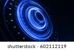 blue circle light with tracing... | Shutterstock . vector #602112119
