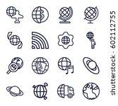 globe icons set. set of 16... | Shutterstock .eps vector #602112755