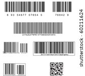 standard barcodes and shipping... | Shutterstock .eps vector #60211624