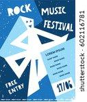 rock music festival template... | Shutterstock .eps vector #602116781