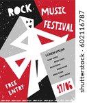 rock music festival template... | Shutterstock .eps vector #602116787