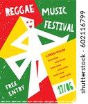 reggae music festival template... | Shutterstock .eps vector #602116799