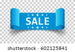 sale ribbon vector icon.... | Shutterstock .eps vector #602125841