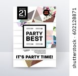invitation disco party poster... | Shutterstock .eps vector #602128871