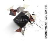 memphis geometric background... | Shutterstock .eps vector #602135441