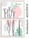 collection of abstract creative ... | Shutterstock .eps vector #602139914