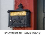 Metallic Letter Or Mail Box On...