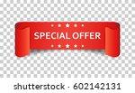 special offer ribbon vector... | Shutterstock .eps vector #602142131