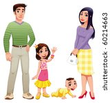 human family with mother ...   Shutterstock .eps vector #60214663