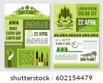 save earth and planet nature... | Shutterstock .eps vector #602154479