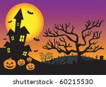 halloween invitation with... | Shutterstock .eps vector #60215530