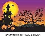 halloween invitation with... | Shutterstock .eps vector #60215530