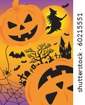 halloween invitation with... | Shutterstock .eps vector #60215551