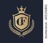 gf logo | Shutterstock .eps vector #602156801