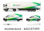 mockup set of hi detailed truck ... | Shutterstock .eps vector #602157395