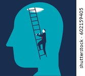 businessman brain searching   Shutterstock .eps vector #602159405