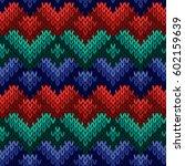 knitting seamless vector...   Shutterstock .eps vector #602159639