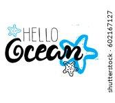 hand drawn lettering card  ... | Shutterstock .eps vector #602167127