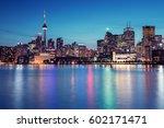 night skyline of toronto ... | Shutterstock . vector #602171471