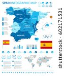 vector illustration of spain map | Shutterstock .eps vector #602171531