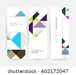 memphis geometric background...   Shutterstock .eps vector #602172047
