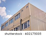 container on a construction...   Shutterstock . vector #602175035