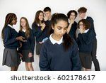 depressed outsider student... | Shutterstock . vector #602178617