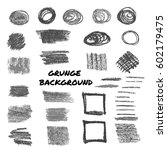 hand drawn vector grunge strips ... | Shutterstock .eps vector #602179475