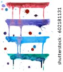 colorful drips watercolor and... | Shutterstock . vector #602181131