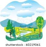 sunset or sunrise mountains... | Shutterstock .eps vector #60219061