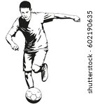 soccer football player... | Shutterstock .eps vector #602190635