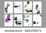 memphis geometric background... | Shutterstock .eps vector #602193071