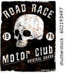 motorcycle poster skull tee...   Shutterstock .eps vector #602193497