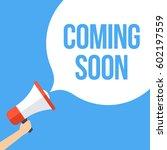 coming soon megaphone banner | Shutterstock .eps vector #602197559