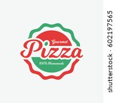 pizza label | Shutterstock .eps vector #602197565