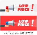 low price megaphone banners | Shutterstock .eps vector #602197595