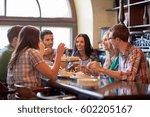 leisure  food  drinks  people...   Shutterstock . vector #602205167