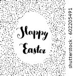 happy easter lettering. happy... | Shutterstock .eps vector #602205491