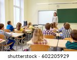 education  elementary school ... | Shutterstock . vector #602205929