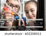 happy smiling little technician ... | Shutterstock . vector #602208311