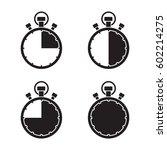 stopwatch timer set | Shutterstock .eps vector #602214275