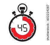 forty five minute stop watch... | Shutterstock .eps vector #602214287