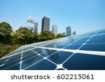 solar panels in the city | Shutterstock . vector #602215061