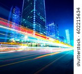 traffic through the modern city   Shutterstock . vector #602215634
