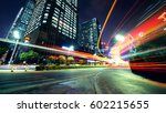 traffic through the modern city | Shutterstock . vector #602215655