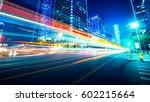 traffic through the modern city   Shutterstock . vector #602215664